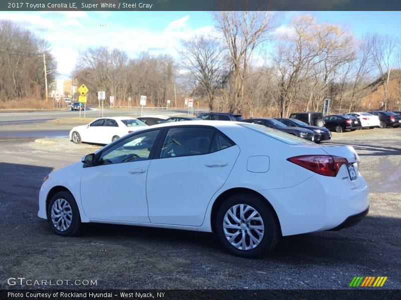 Super White / Steel Gray 2017 Toyota Corolla LE