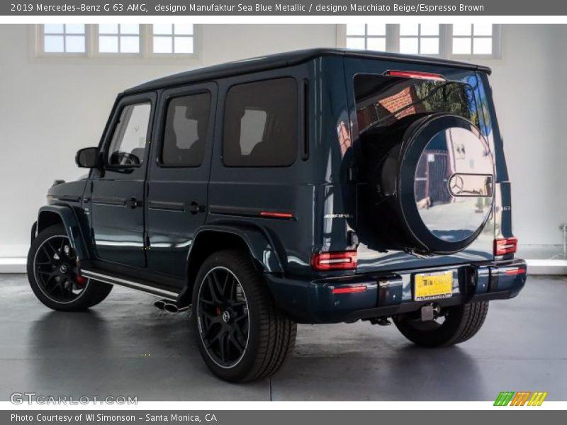 designo Manufaktur Sea Blue Metallic / designo Macchiato Beige/Espresso Brown 2019 Mercedes-Benz G 63 AMG