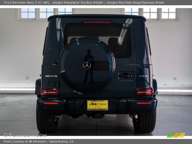 designo Manufaktur Sea Blue Metallic / designo Macchiato Beige/Espresso Brown 2019 Mercedes-Benz G 63 AMG