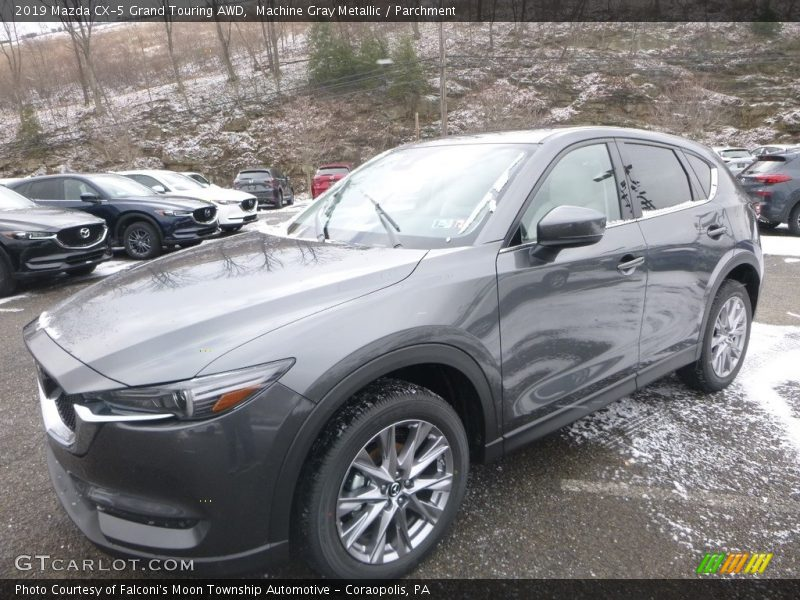 Machine Gray Metallic / Parchment 2019 Mazda CX-5 Grand Touring AWD