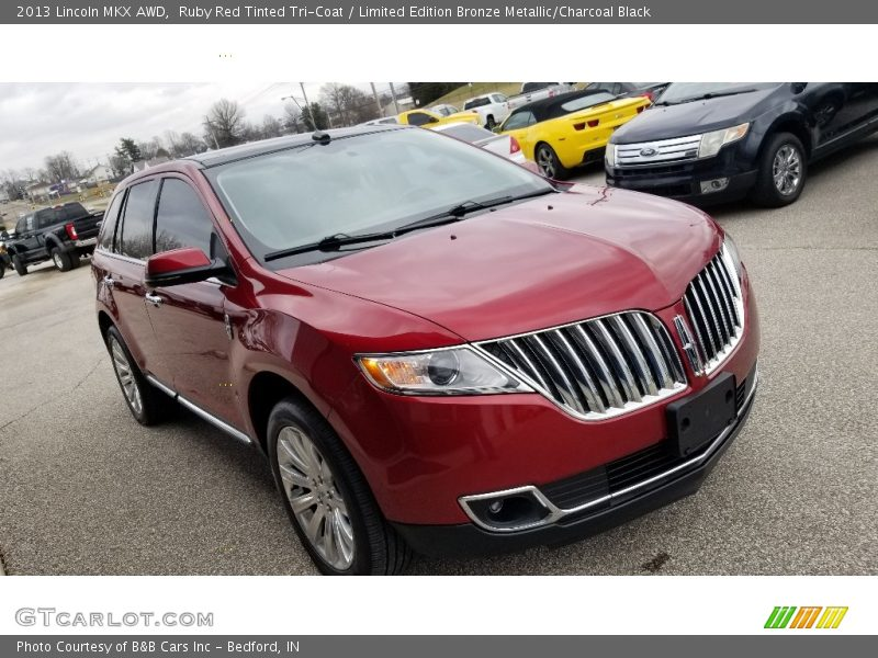 Ruby Red Tinted Tri-Coat / Limited Edition Bronze Metallic/Charcoal Black 2013 Lincoln MKX AWD