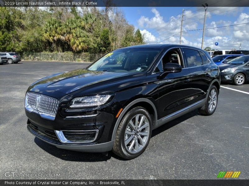 Infinite Black / Coffee 2019 Lincoln Nautilus Select