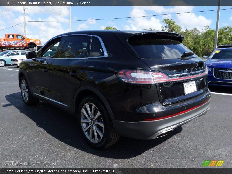 Infinite Black / Coffee 2019 Lincoln Nautilus Select
