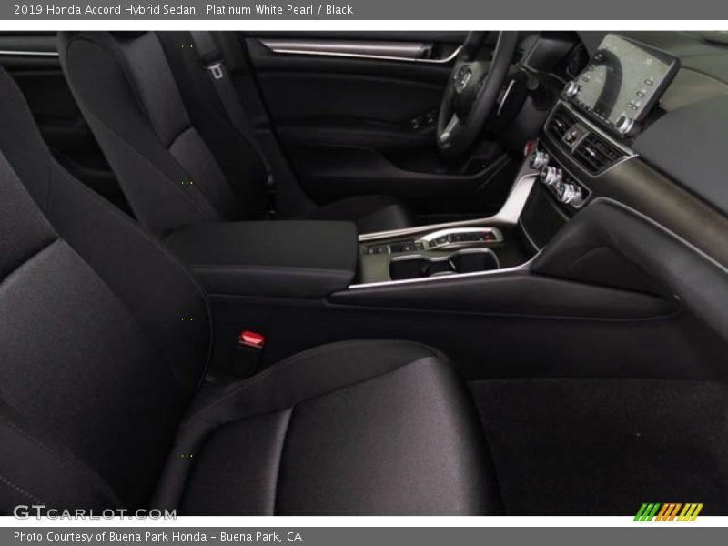 Platinum White Pearl / Black 2019 Honda Accord Hybrid Sedan