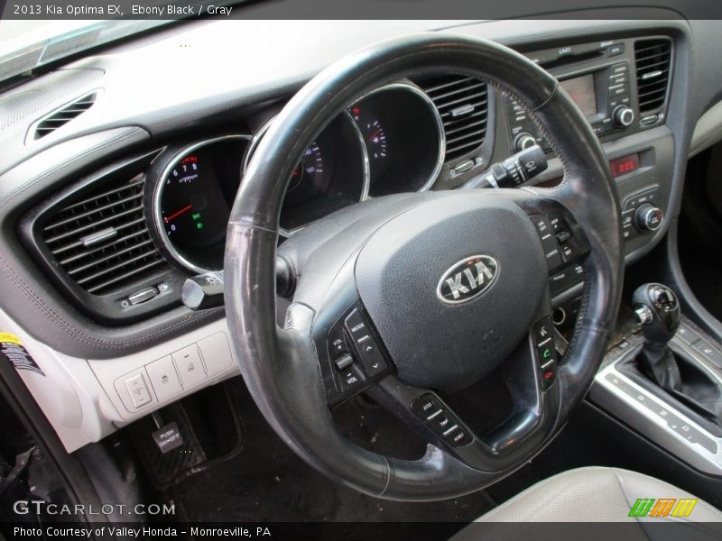 Ebony Black / Gray 2013 Kia Optima EX