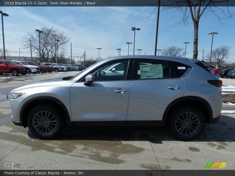 Sonic Silver Metallic / Black 2019 Mazda CX-5 Sport