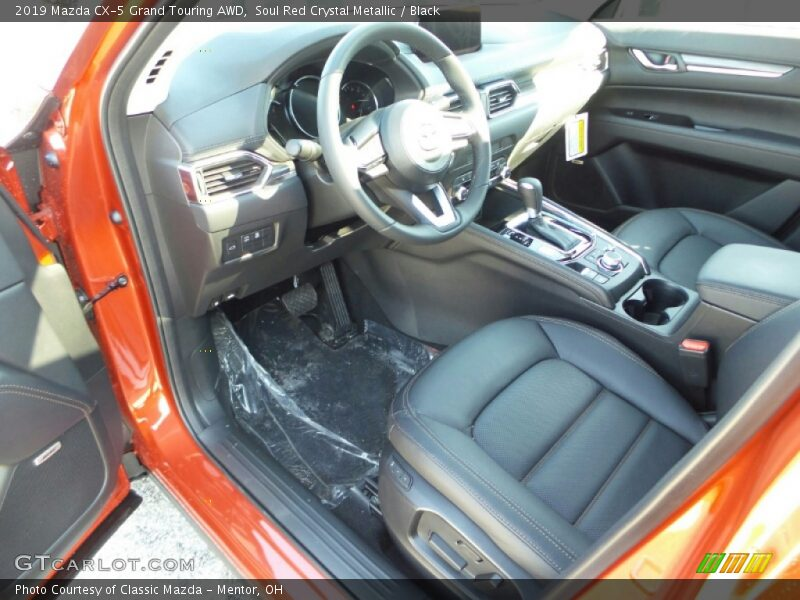 Soul Red Crystal Metallic / Black 2019 Mazda CX-5 Grand Touring AWD