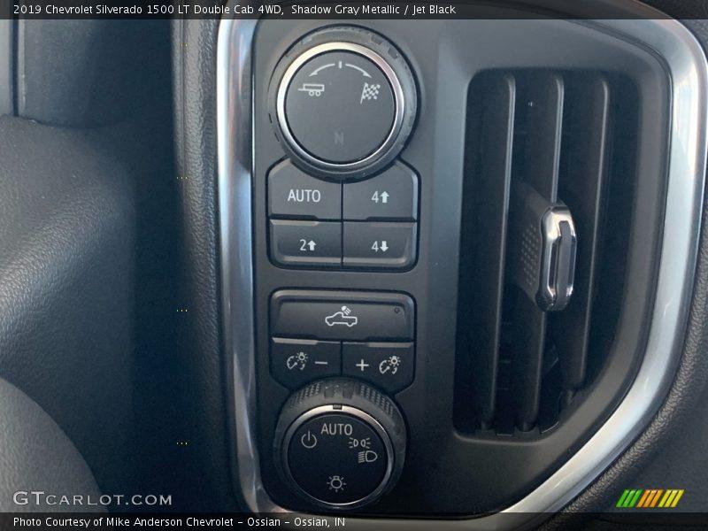 Shadow Gray Metallic / Jet Black 2019 Chevrolet Silverado 1500 LT Double Cab 4WD