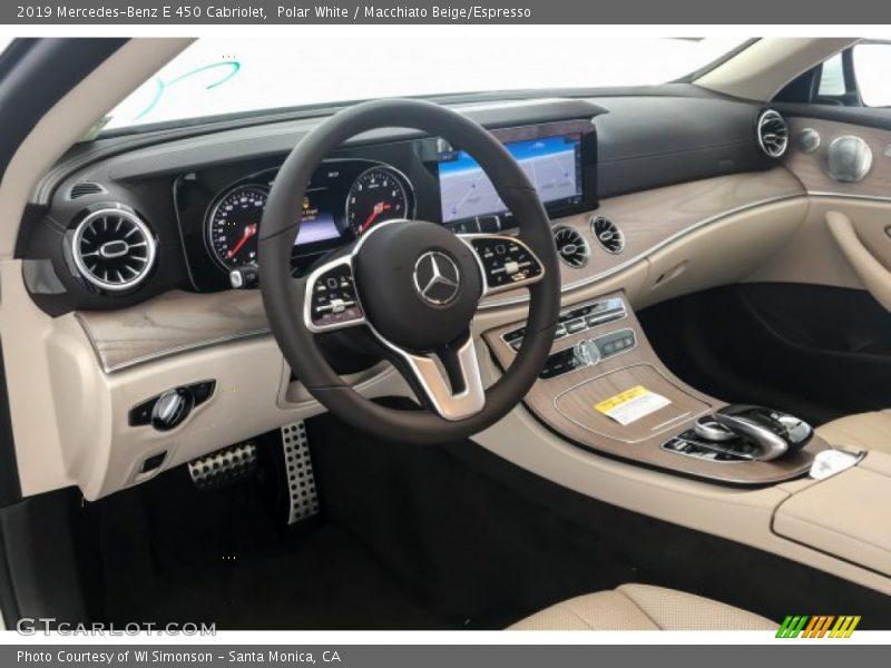 Polar White / Macchiato Beige/Espresso 2019 Mercedes-Benz E 450 Cabriolet
