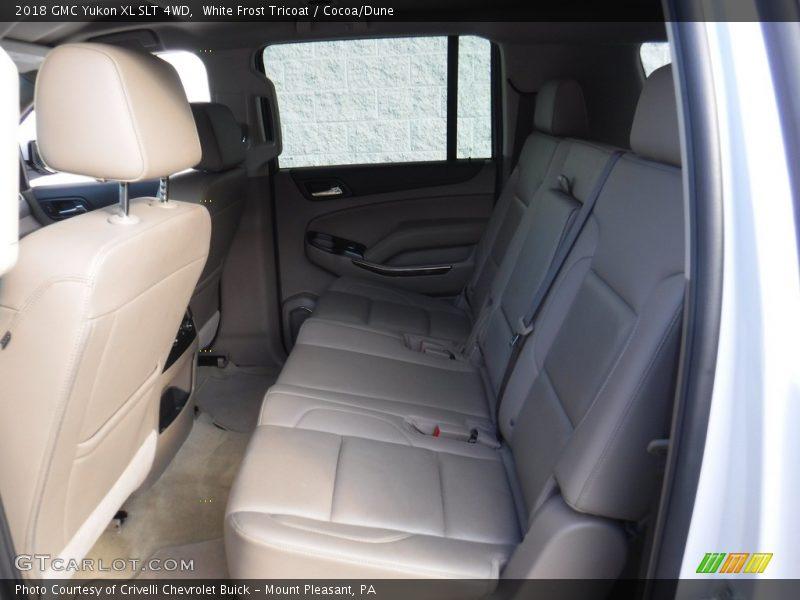 White Frost Tricoat / Cocoa/Dune 2018 GMC Yukon XL SLT 4WD
