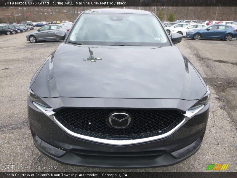 Machine Gray Metallic / Black 2019 Mazda CX-5 Grand Touring AWD