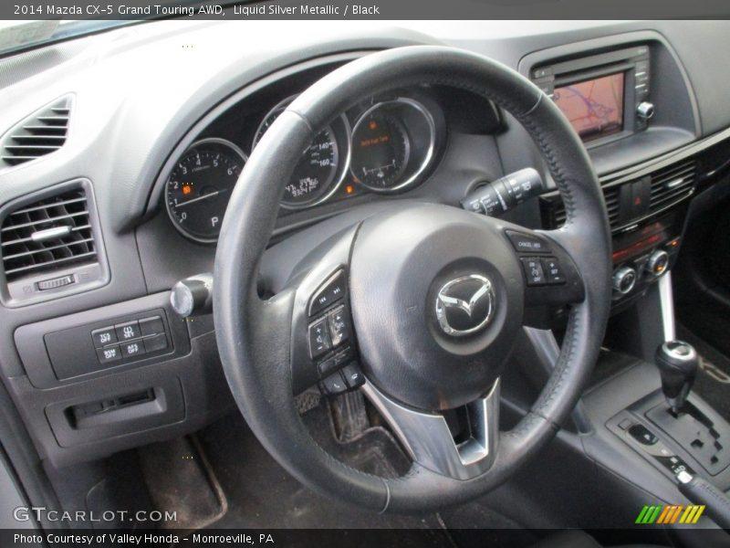 Liquid Silver Metallic / Black 2014 Mazda CX-5 Grand Touring AWD