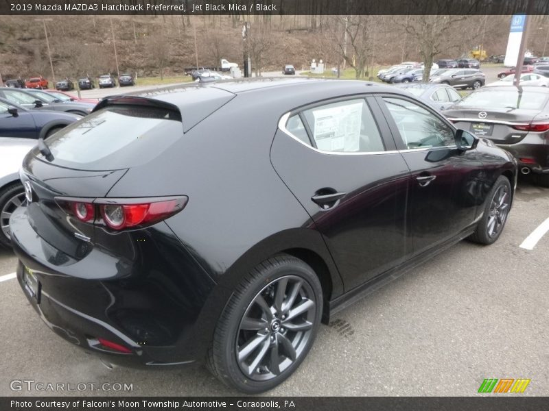 Jet Black Mica / Black 2019 Mazda MAZDA3 Hatchback Preferred