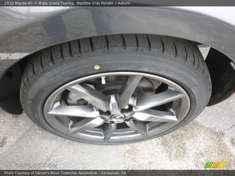 Machine Gray Metallic / Auburn 2019 Mazda MX-5 Miata Grand Touring