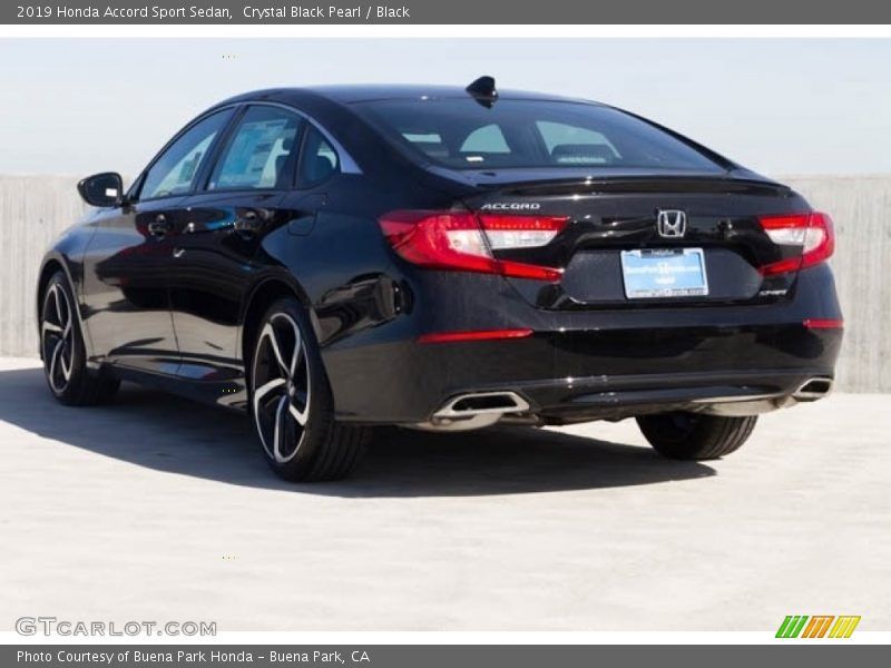 Crystal Black Pearl / Black 2019 Honda Accord Sport Sedan
