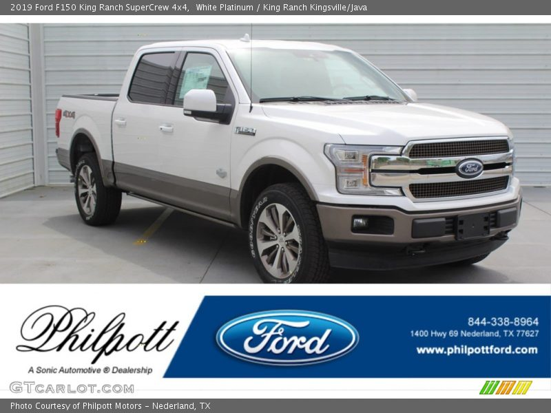 White Platinum / King Ranch Kingsville/Java 2019 Ford F150 King Ranch SuperCrew 4x4