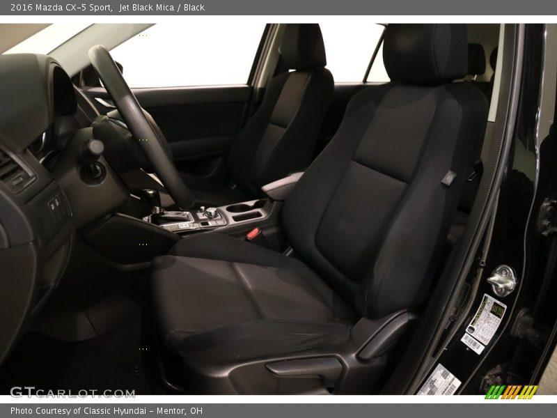 Jet Black Mica / Black 2016 Mazda CX-5 Sport