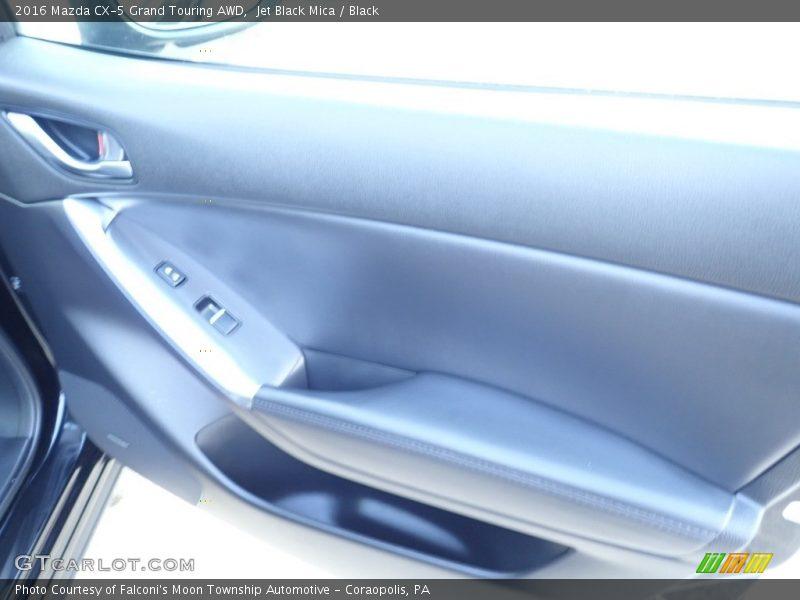 Jet Black Mica / Black 2016 Mazda CX-5 Grand Touring AWD
