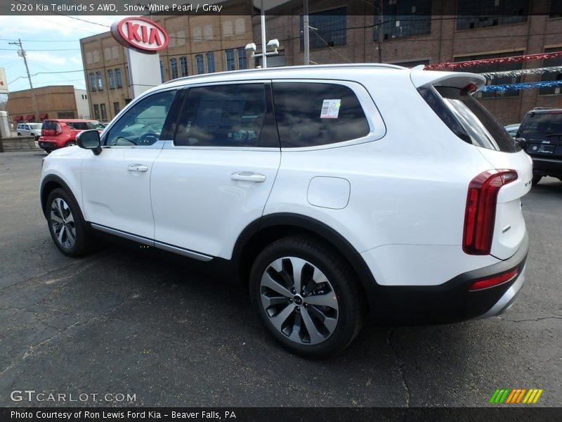 Snow White Pearl / Gray 2020 Kia Telluride S AWD