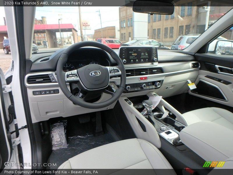 2020 Telluride S AWD Gray Interior