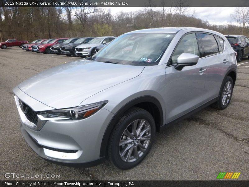 Sonic Silver Metallic / Black 2019 Mazda CX-5 Grand Touring AWD
