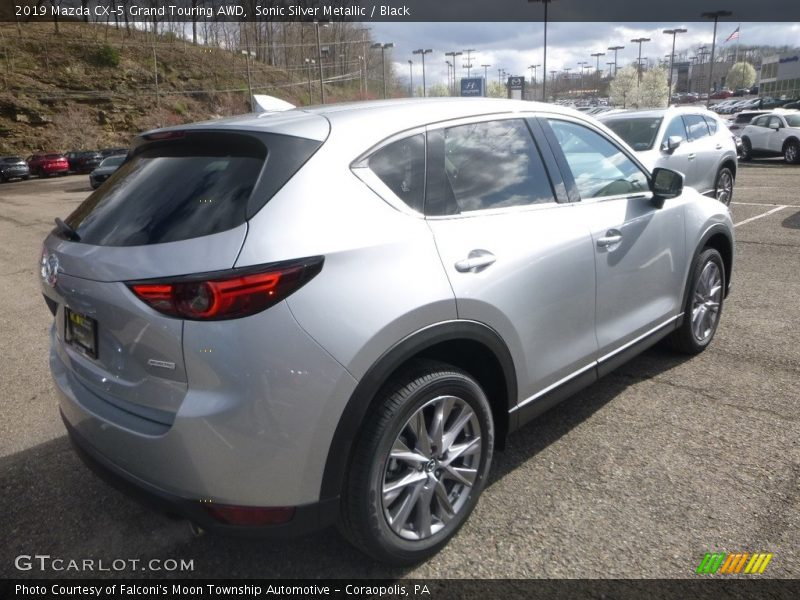 Sonic Silver Metallic / Black 2019 Mazda CX-5 Grand Touring AWD