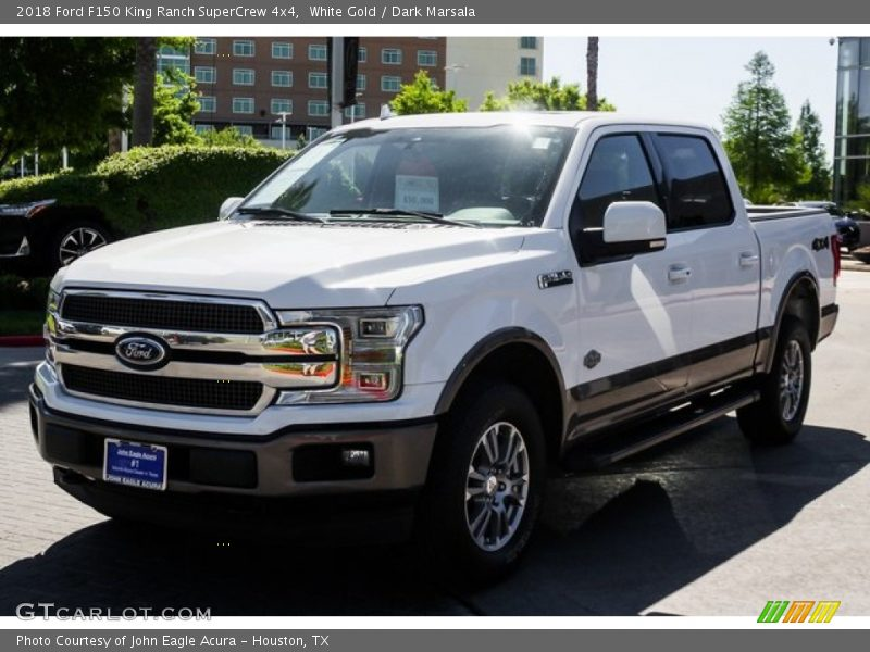 White Gold / Dark Marsala 2018 Ford F150 King Ranch SuperCrew 4x4