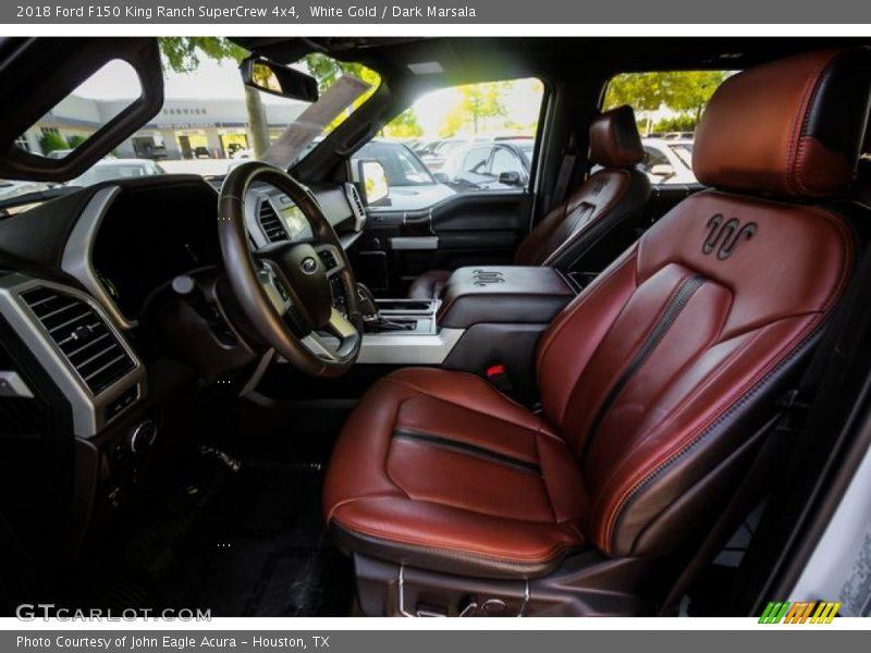 White Gold / Dark Marsala 2018 Ford F150 King Ranch SuperCrew 4x4