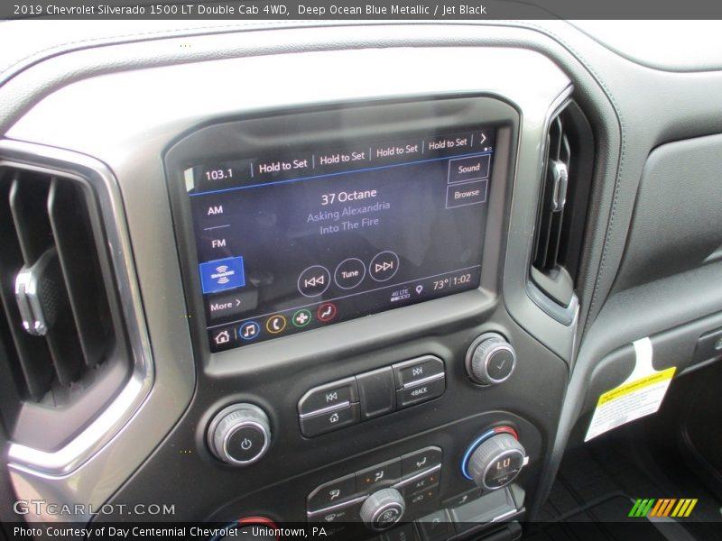 Deep Ocean Blue Metallic / Jet Black 2019 Chevrolet Silverado 1500 LT Double Cab 4WD