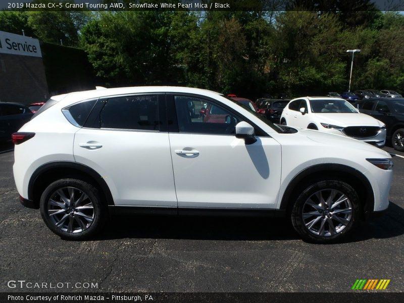 Snowflake White Pearl Mica / Black 2019 Mazda CX-5 Grand Touring AWD