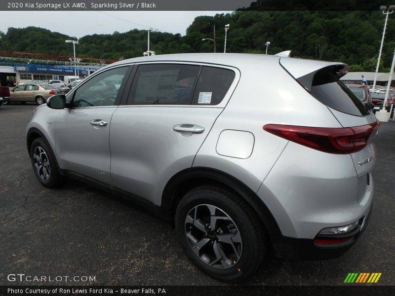Sparkling Silver / Black 2020 Kia Sportage LX AWD