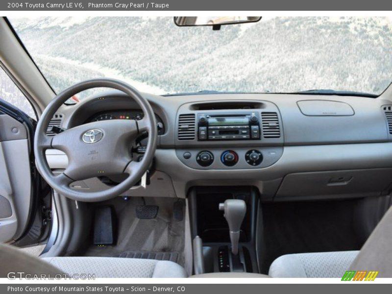 Phantom Gray Pearl / Taupe 2004 Toyota Camry LE V6
