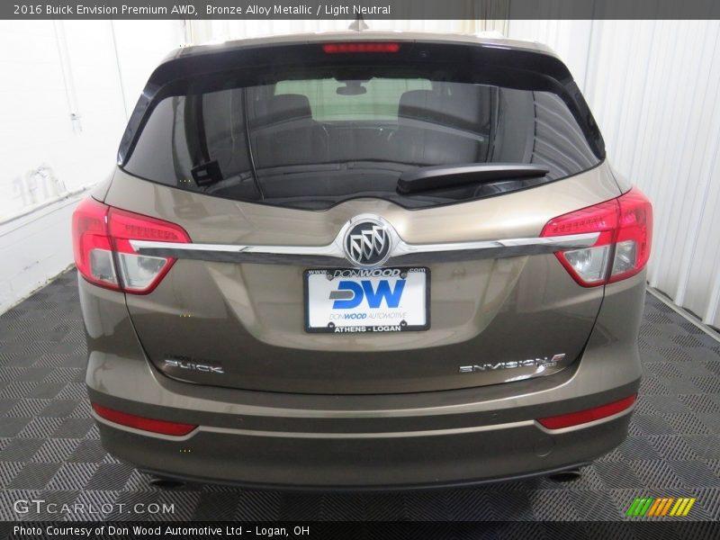 Bronze Alloy Metallic / Light Neutral 2016 Buick Envision Premium AWD