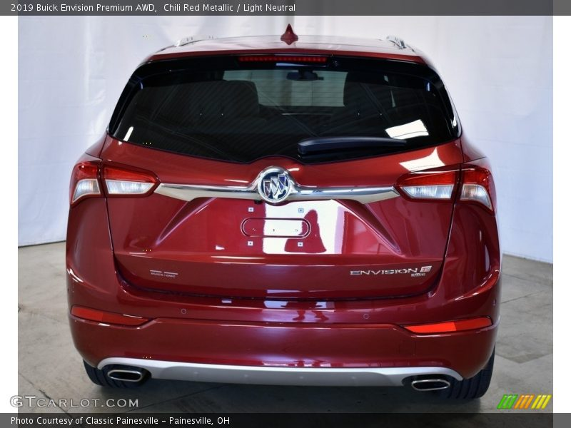 Chili Red Metallic / Light Neutral 2019 Buick Envision Premium AWD