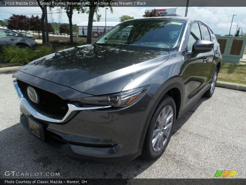Machine Gray Metallic / Black 2019 Mazda CX-5 Grand Touring Reserve AWD
