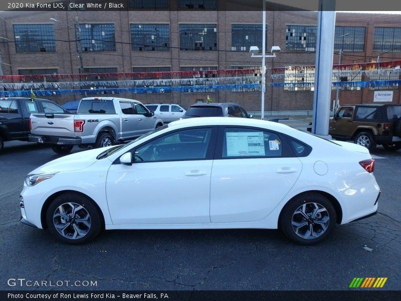 Clear White / Black 2020 Kia Forte LXS