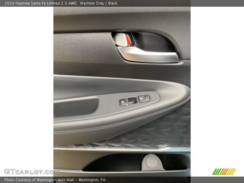 Portofino Gray / Black 2020 Hyundai Santa Fe Limited 2.0 AWD