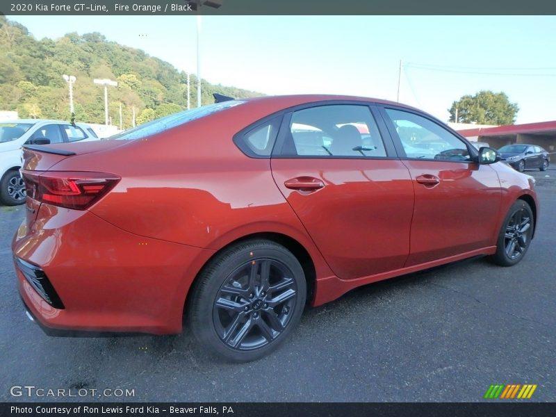 Fire Orange / Black 2020 Kia Forte GT-Line