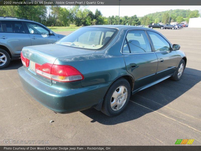 Noble Green Pearl / Quartz Gray 2002 Honda Accord EX V6 Sedan