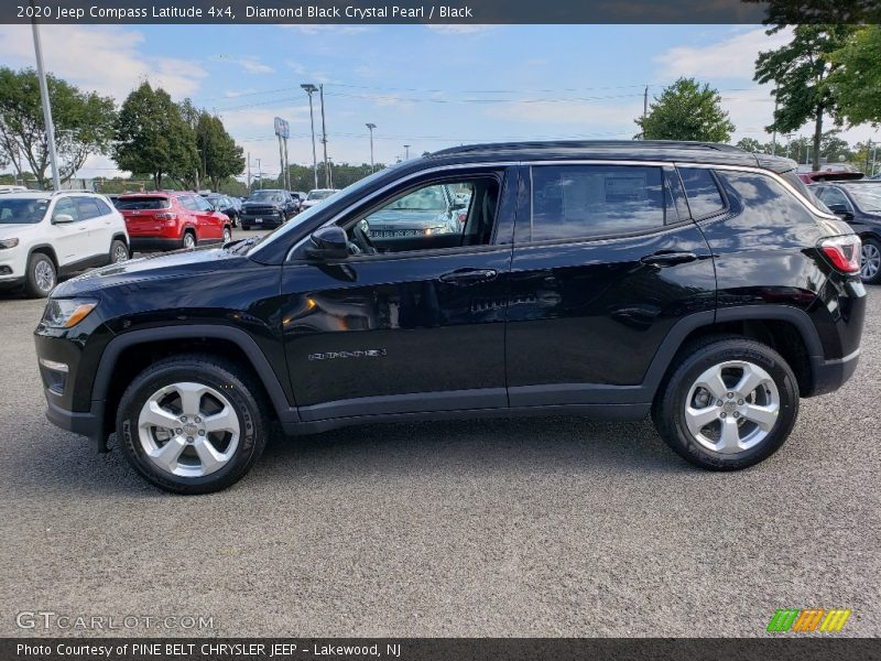 Diamond Black Crystal Pearl / Black 2020 Jeep Compass Latitude 4x4
