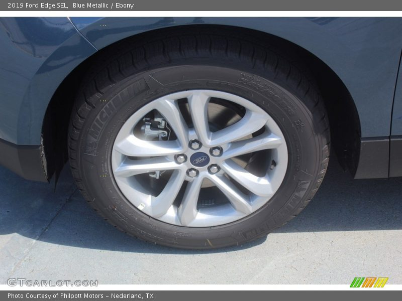 Blue Metallic / Ebony 2019 Ford Edge SEL