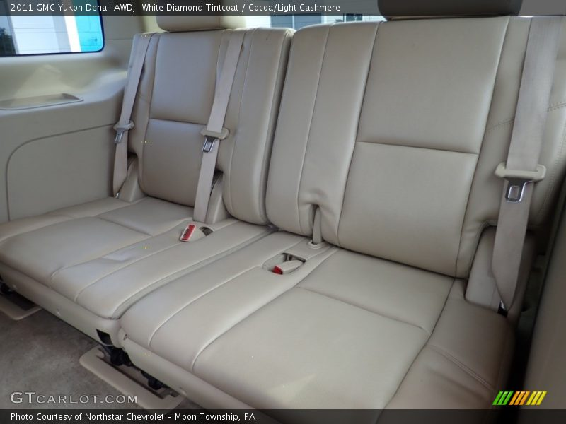 White Diamond Tintcoat / Cocoa/Light Cashmere 2011 GMC Yukon Denali AWD