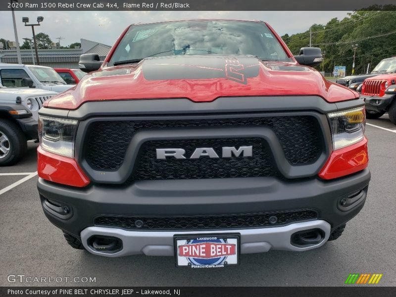 Flame Red / Red/Black 2020 Ram 1500 Rebel Crew Cab 4x4