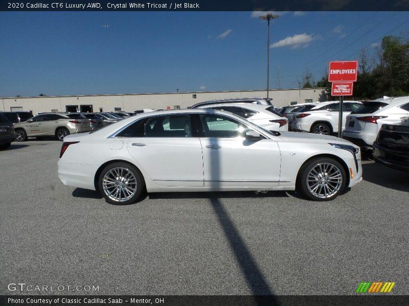Crystal White Tricoat / Jet Black 2020 Cadillac CT6 Luxury AWD