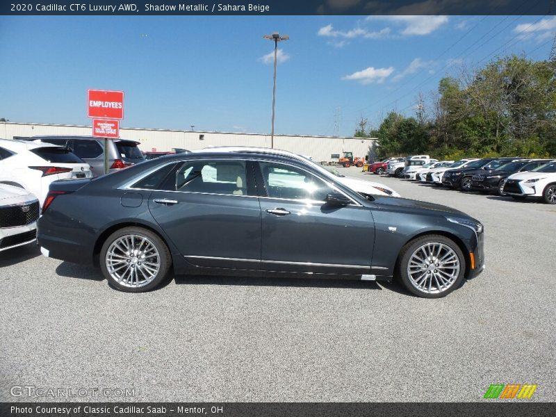 Shadow Metallic / Sahara Beige 2020 Cadillac CT6 Luxury AWD