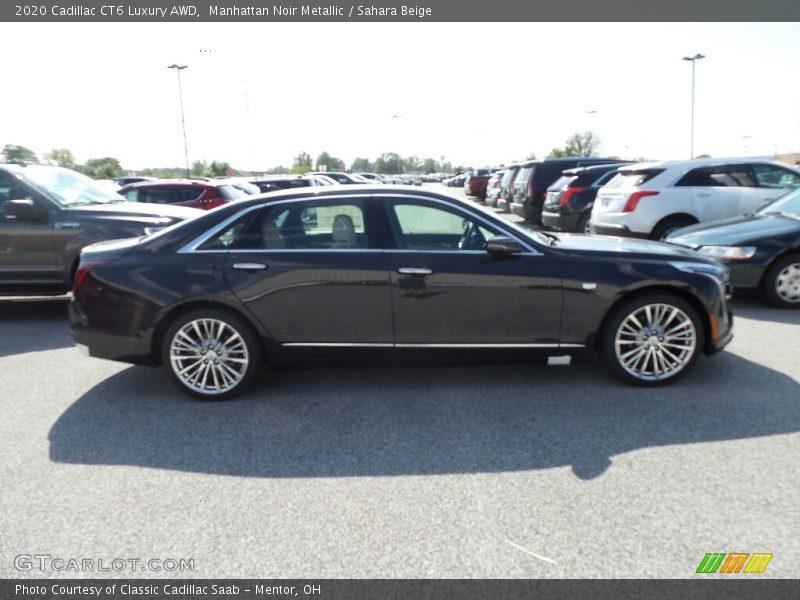 Manhattan Noir Metallic / Sahara Beige 2020 Cadillac CT6 Luxury AWD