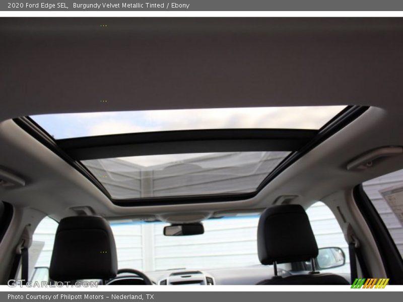 Burgundy Velvet Metallic Tinted / Ebony 2020 Ford Edge SEL