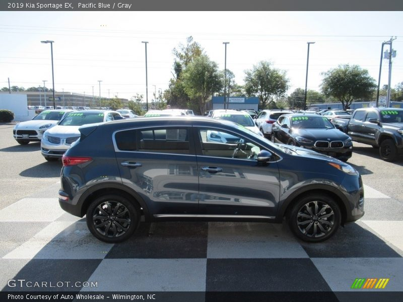 Pacific Blue / Gray 2019 Kia Sportage EX