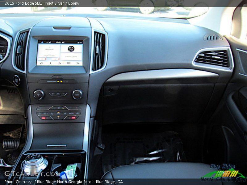 Ingot Silver / Ebony 2019 Ford Edge SEL