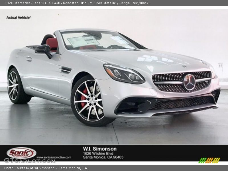 Iridium Silver Metallic / Bengal Red/Black 2020 Mercedes-Benz SLC 43 AMG Roadster